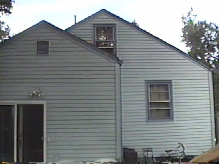 Rear of the house after the siding job we did in 1991