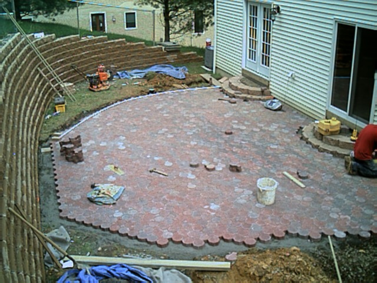 Now we are almost done with the patio!
