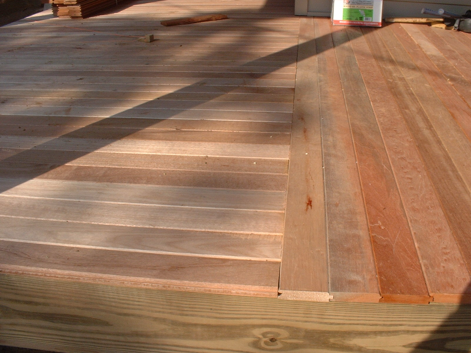 Wrap around porch for Tongue and groove roof decking