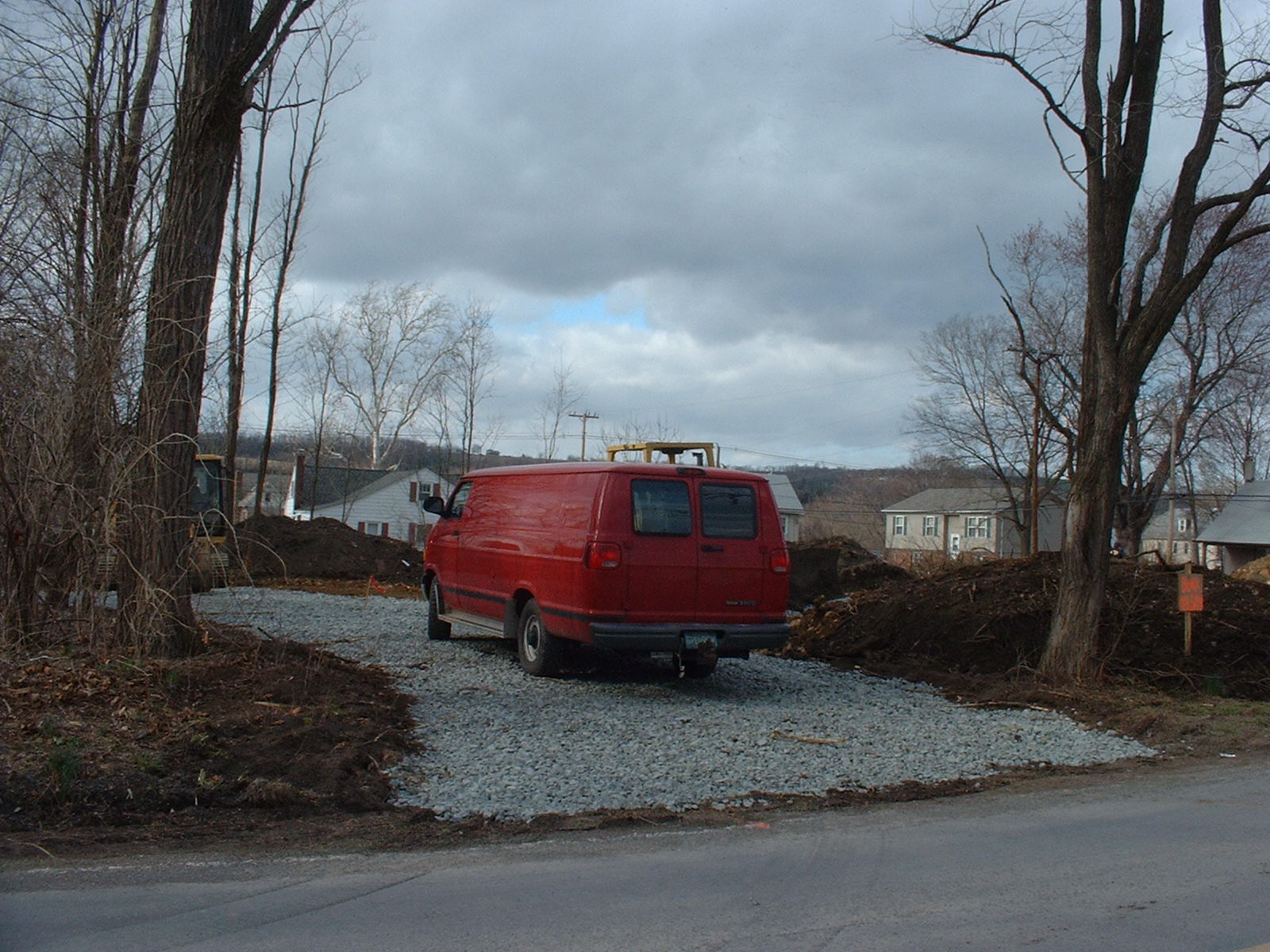 The driveway base consists or six inches of two inch stone.