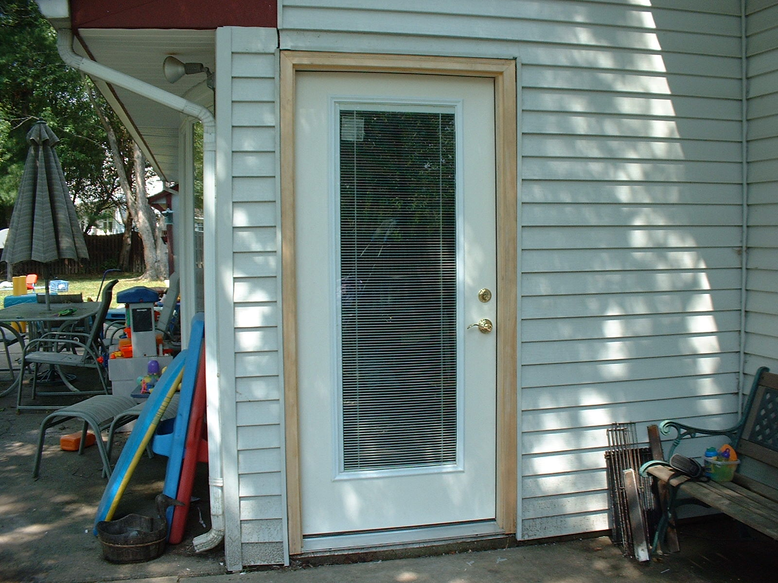 We replaced the rear entry door with a