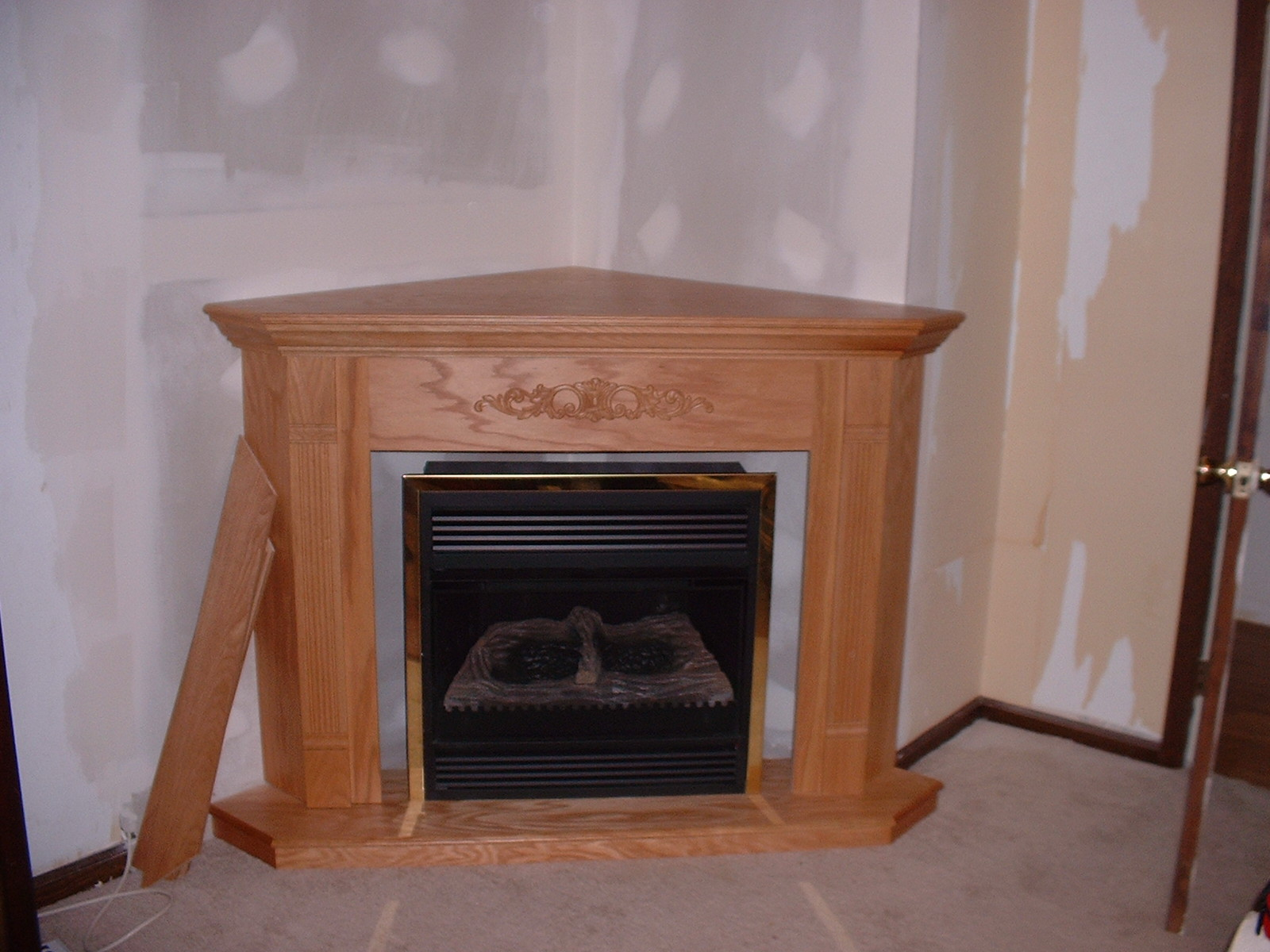 This is a ventless fireplace that we installed in the master bedroom.