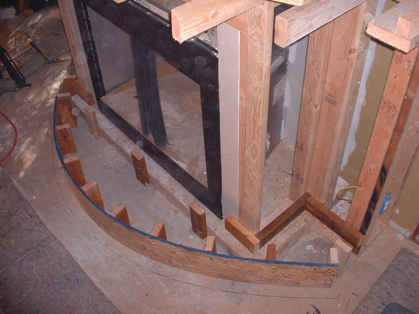 The hearth was  a challange to get the radius perfect.