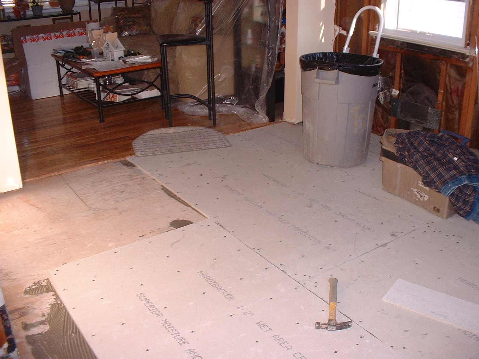 This is the backerboard for the tile.