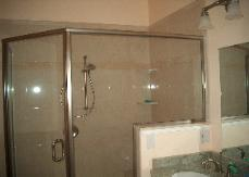 The shower doors really finish off this shower. I love this bathroom.
