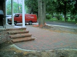 We did all of the masonry. We had just finished the paver driveway.