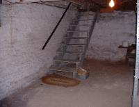 The basement stairs.