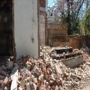 There was tons of brick that came out of this house. They had to be taken down, one by one.